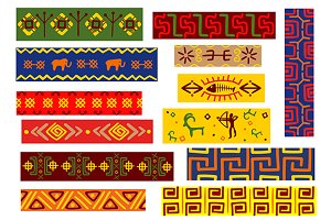 Ethnic african patterns set