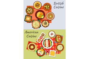 American and british cuisine