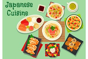 Japanese cuisine dinner dishes