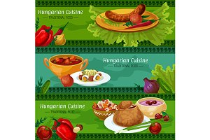 Hungarian cuisine banners