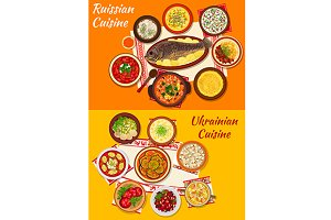 Russian and ukrainian cuisine