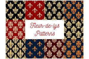 Victorian fleur-de-lis  patterns