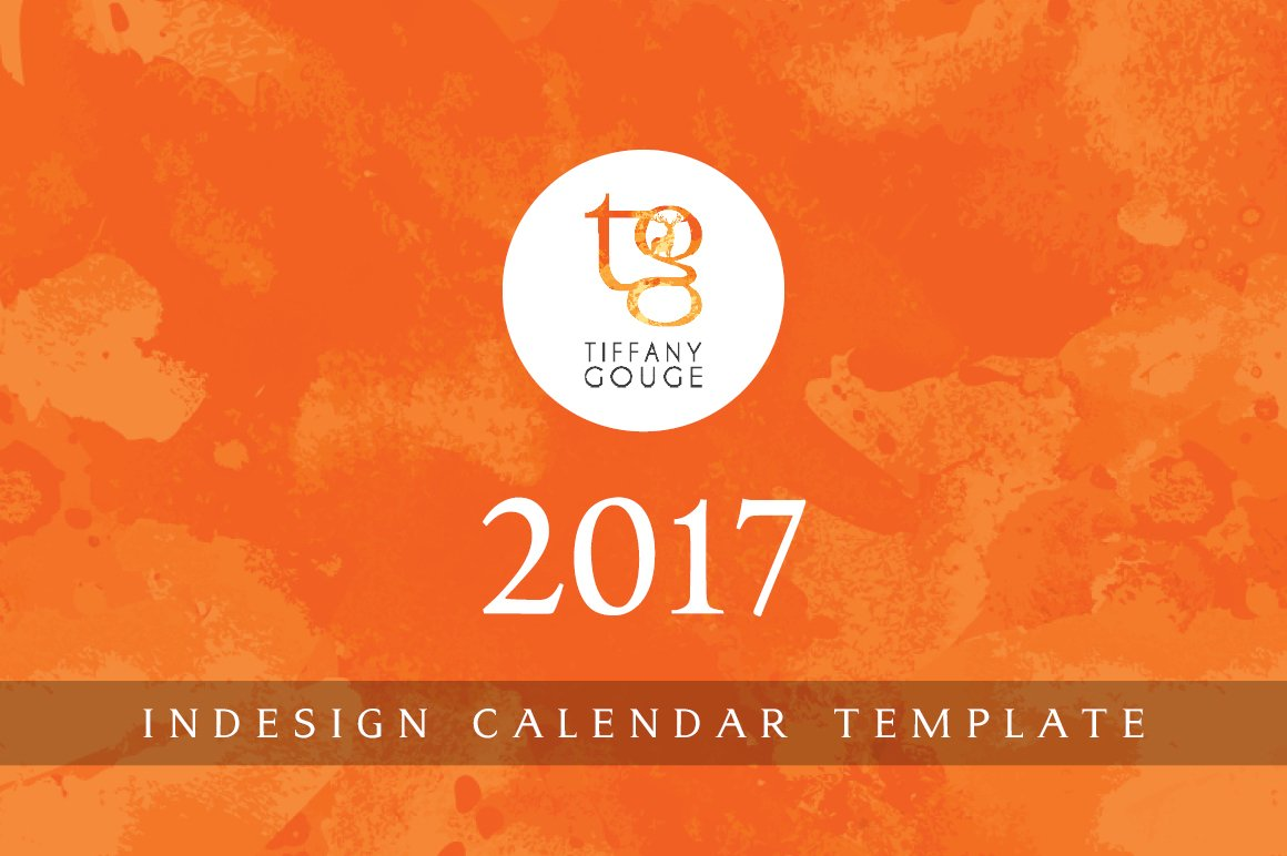 calendar template 2017 indesign stationery templates creative market. Black Bedroom Furniture Sets. Home Design Ideas