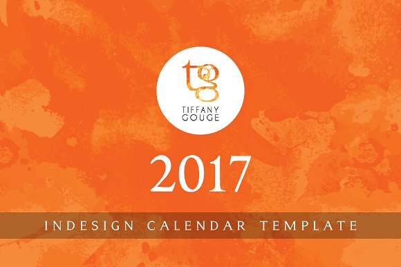 Calendar Template 2017 InDesign Stationery Templates on – Indesign Calendar Template