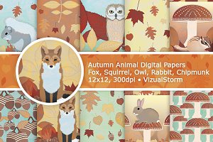 Fall Woodland Animal Patterns