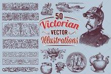 Victorian Vector Art Illustrations 1