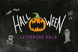 Halloween Lettering Pack