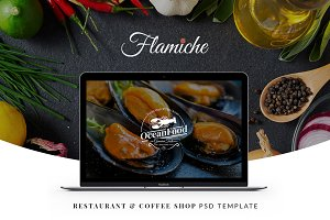 Flamiche - Restaurant PSD Template