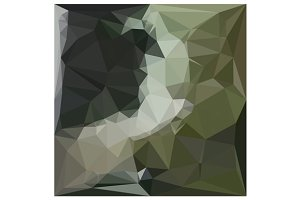 Dark Slate Gray Abstract Low Polygon