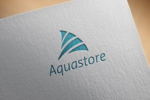 Aquastore logo template