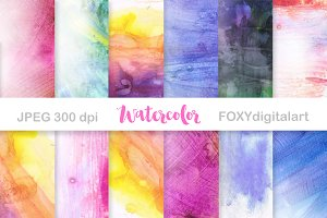 Handpainted Digital Watercolor Paper