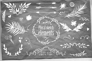 Floral sketch set