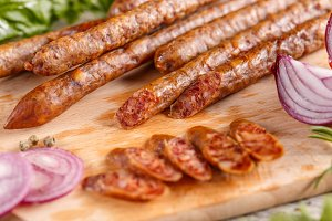 Smoked thin sausage