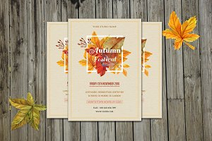 Autumn Festival Flyer Template-V402