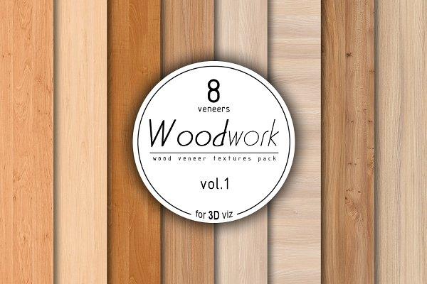 3D Wood: Zver - 8 wood veneer texture pack vol.1