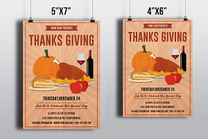 Thanksgiving Party Flyer-V403