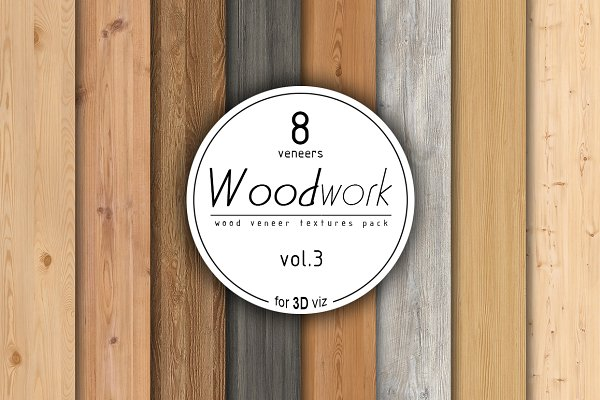 3D Textures: Zver - 8 wood veneer texture pack vol.3