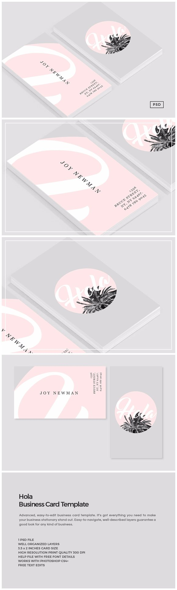 Hola Business Card Template ~ Business Card Templates ~ Creative ...