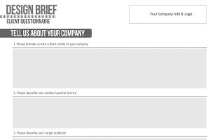 Design Brief Print and Web Template