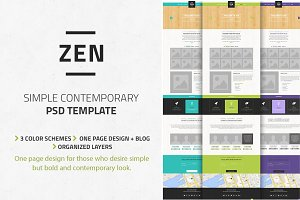 Zen - Multi-Purpose PSD template
