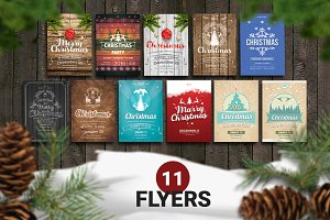 11. Christmas Retro Flyer Template