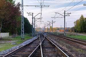 The rails and wires
