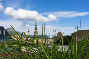 Roofs and churches of Riga