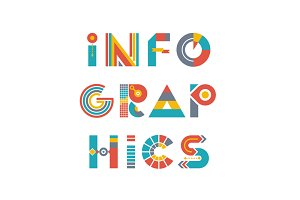Infographics Word Logo
