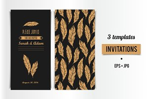 Art Deco Invitation card design
