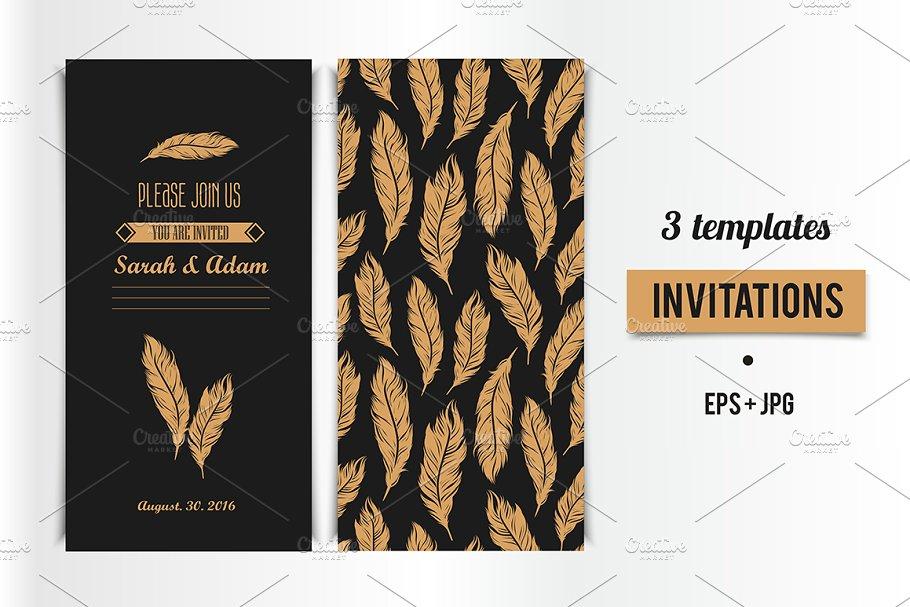 Art Deco Invitation Card Design