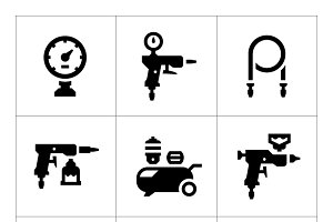 Set icons of compressor