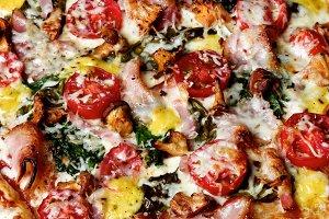 Delicious Mushrooms Pizza