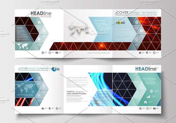 Flat design templates v.7 - Brochures