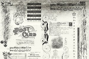 21 Photoshop Vintage Brush Scraps