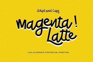 Magenta Latte.
