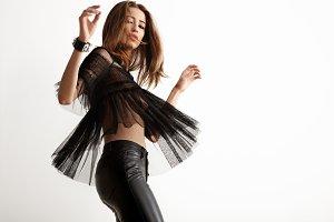 rock style woman