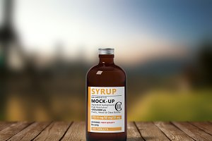 Syrup Bottle Mock-Up