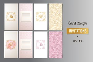 Greeting Card design in light colors