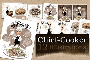 Chief Cooker Illustrations.