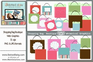 Shopping Bag Boutique Web Elements