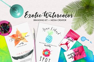 Exotic Watercolor 550+