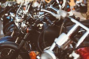 Row of motorbikes