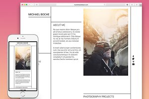 Portfolio Adobe Muse Template