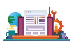 Programming Flat Design Illustration