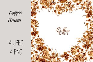 №195 Hand drawn coffee flower