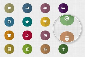 Flat Mobile Interface Icon Set