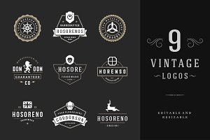 9 Vintage Logotypes or Badges