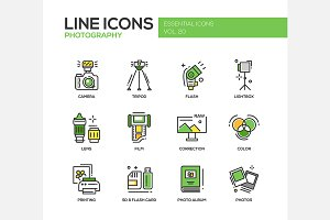 Photography - Line Icons Set