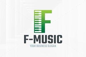 Music - Letter F Logo Template