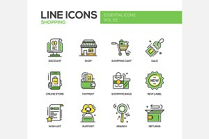 Shopping - Line Icons Set